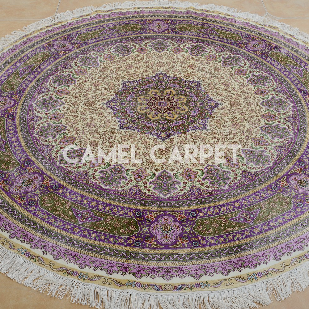 Silk Persian 6 Ft Round Area Rugs