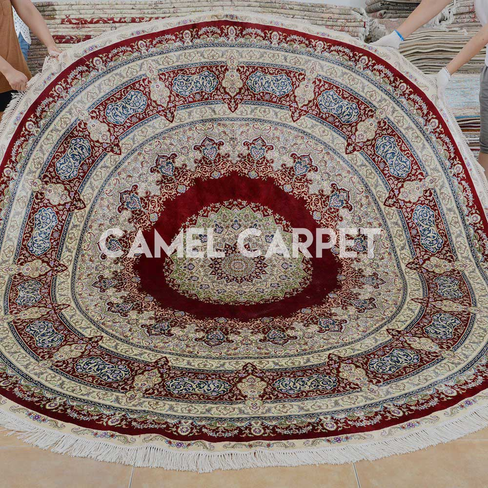 Hand-knotted 8 ft Round Area Rugs